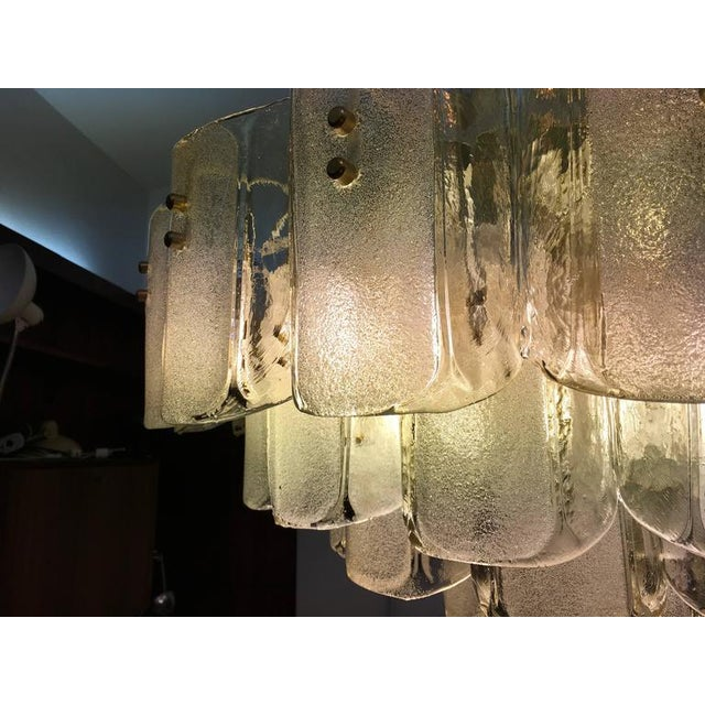 Large Crystal Glass Chandelier, 1960s For Sale - Image 9 of 11
