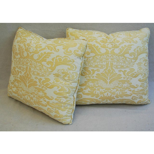 Mariano Fortuny Italian Corone Crown Feather/Down Pillows - Pair - Image 8 of 10