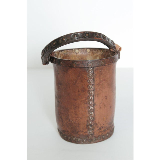 Animal Skin A 19th Century English Leather Fire Bucket For Sale - Image 7 of 13