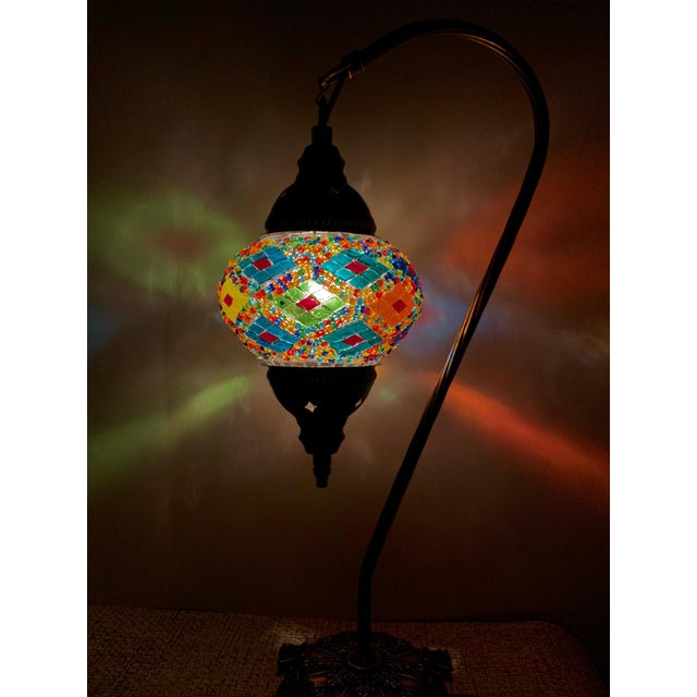 Islamic Turkish Handmade Mosaic Table Lamp For Sale - Image 3 of 5