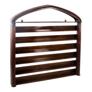 19th Century Regency Style Mahogany Plate Rack For Sale
