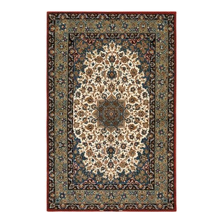 """Vintage Isfahan Rug 3'7"""" X 5'6"""" For Sale"""