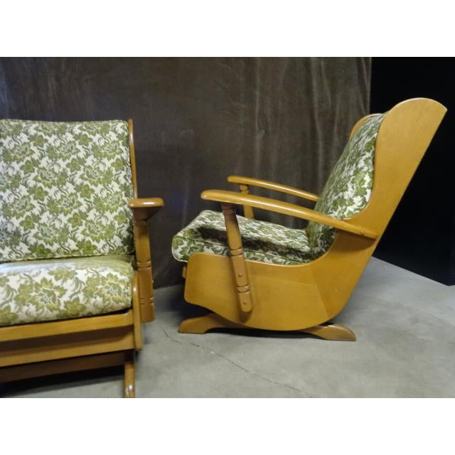 1960s Mid-Century Cushman Style Colonial Platform Rocking Chairs - A Pair For Sale - Image 5 of 8