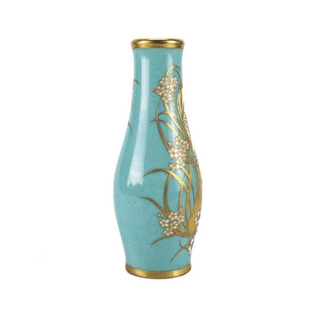 Art Nouveau Dresden Hand Painted Porcelain Vase By Richard Klemm