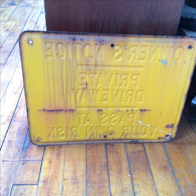 Vintage Private Driveway Sign - Image 3 of 6