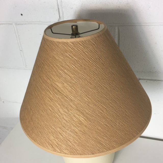 1980s Cream Textured Table Lamp For Sale - Image 5 of 7