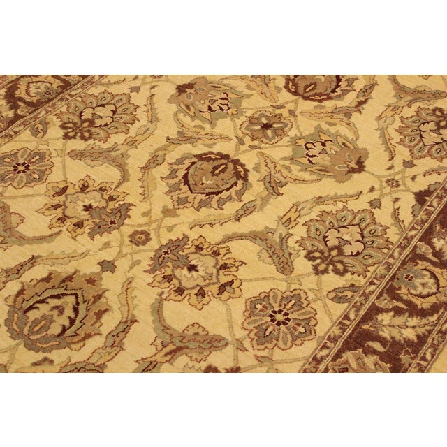 Kafkaz Peshawar Keeley Ivory/Brown Hand-Knotted Rug - 5'0 X 7'0 For Sale In New York - Image 6 of 8