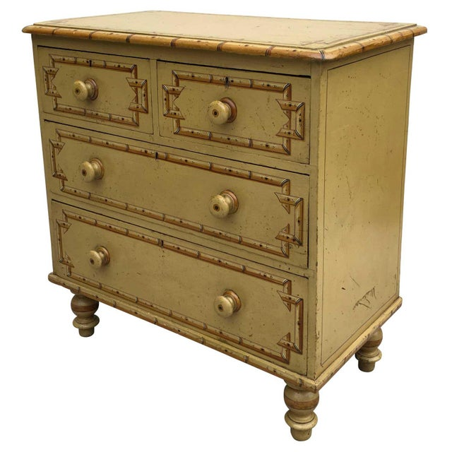 19th Century Boho Chic Style Painted Chest For Sale - Image 4 of 6