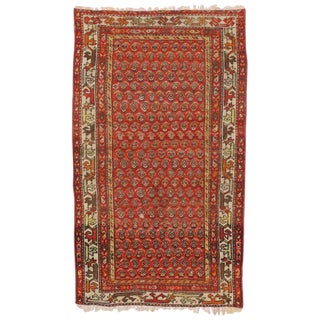 20th Century Persian Boteh Hamadan Accent Rug - 3′3″ × 5′7″ For Sale