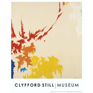 Clyfford Still Abstract Expressionist Lithograph Print Poster For Sale