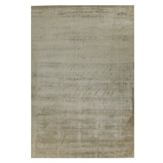 Exquisite Rugs Melle Hand loom Wool/Viscose Bronze Rug-9'x12' For Sale