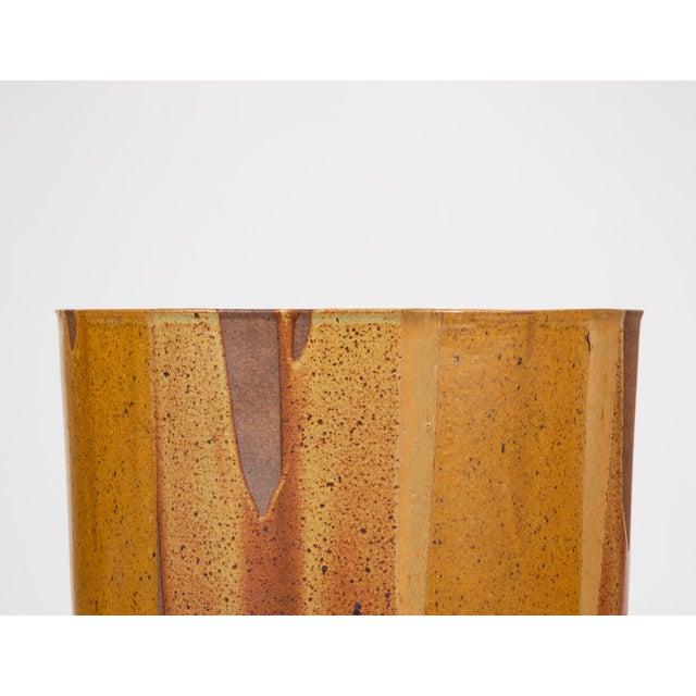 Ceramic Malcolm Leland Lt-24 Flame-Glazed Planter for Architectural Pottery For Sale - Image 7 of 10