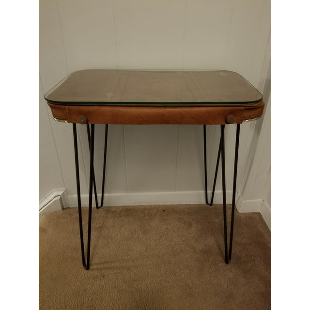 Vintage Suitcase Upcycled Side Table For Sale - Image 5 of 7