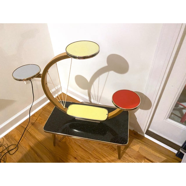 Authentic Mid-Century Modern German Three Tiered Plant Stand For Sale - Image 13 of 13