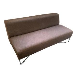 Modern Bernhardt Design Bernett Balance Sofa & Ottoman For Sale
