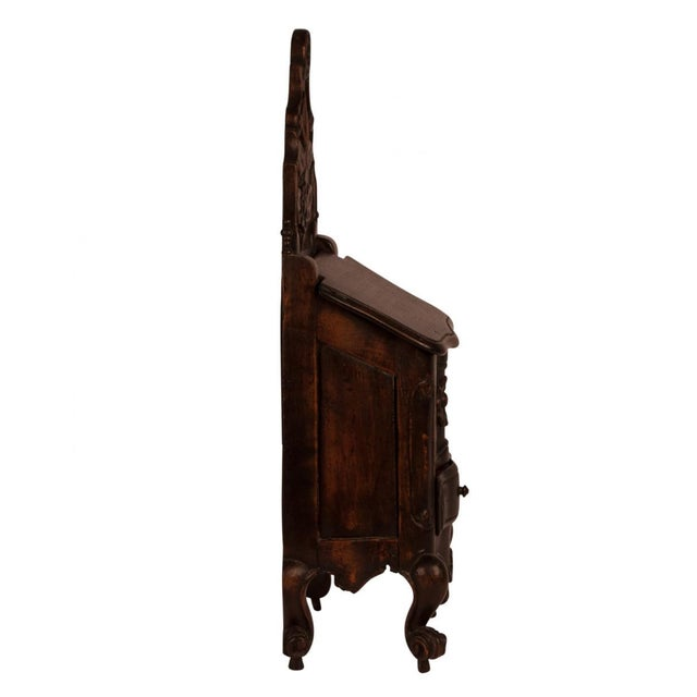French Provincial Walnut Salt Box, France Circa 1840 For Sale - Image 3 of 11