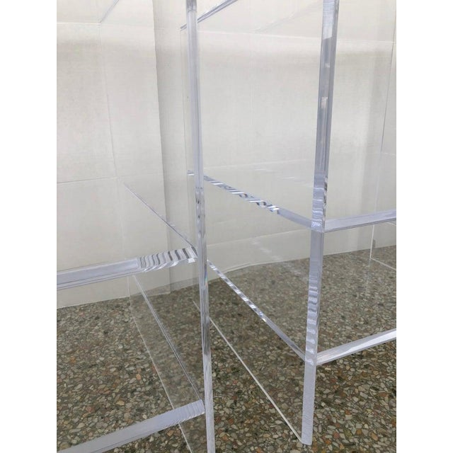 Floor Sample Lucite Nightstands Beveled Top Edges the Pair - Night Stands For Sale In West Palm - Image 6 of 10