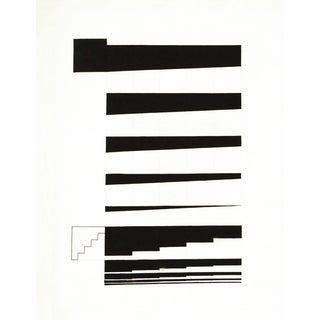 Black and White Minimalist Architectural Graphic Print For Sale