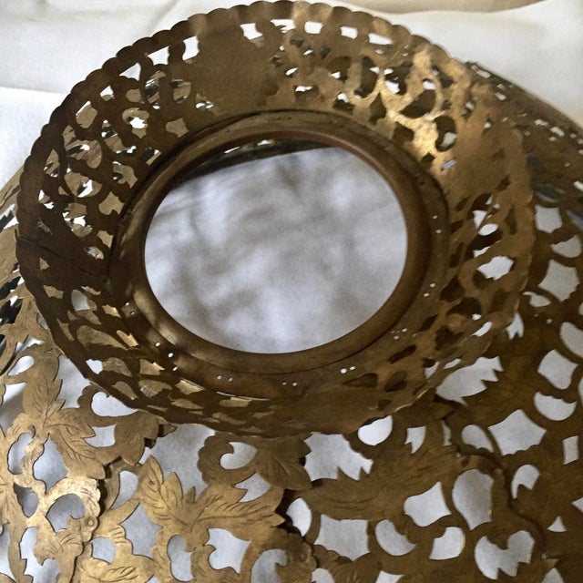 Antique Brass Chandelier Shade - Image 7 of 8