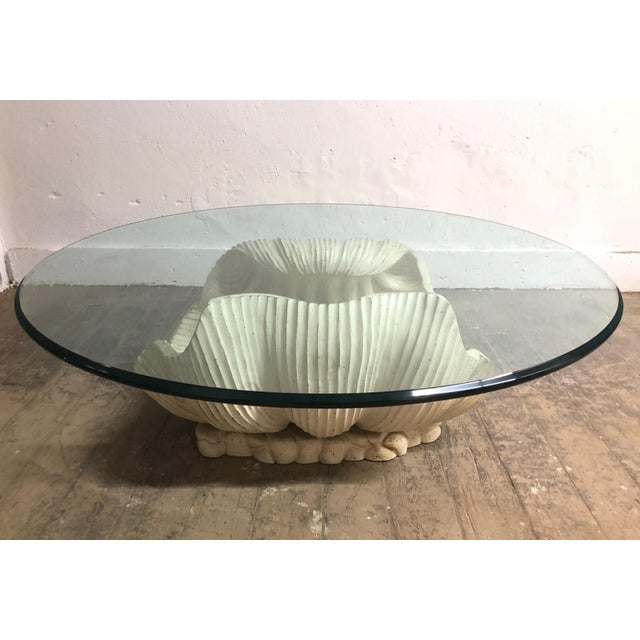 Clam Pearl Shell Wooden Coffee Table For Sale - Image 4 of 8