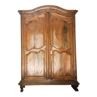 18th Century Louis the XIV/XV Period Walnut Armoire For Sale