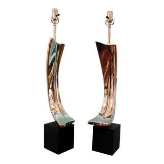 Maurizio Tempestini for Laurel Lighting Mid-Century Table Lamps - a Pair