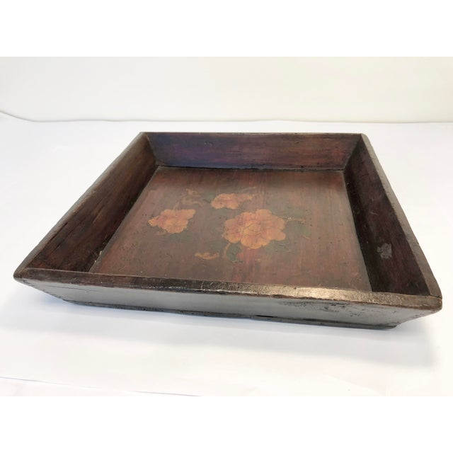 1940s Vintage Chinese Tray For Sale - Image 4 of 4