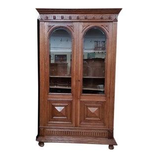 Impressive Antique American Oak Bookcase C.1900 For Sale