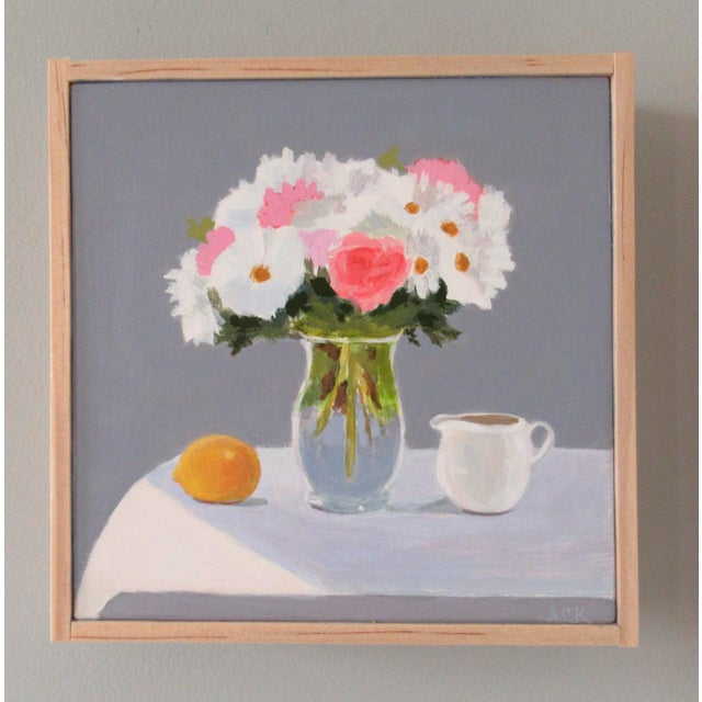 A lovely springtime bouquet filled with optimism. This painting is original, painted from life, with an impressionistic...