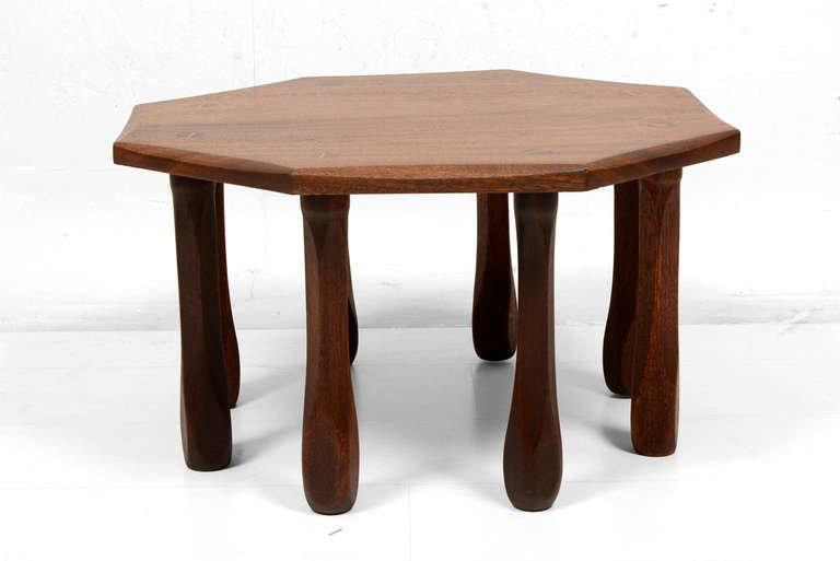 Octagon Solid Mahogany Side Table   Image 2 Of 8