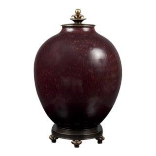 Danish Oxblood Stoneware Jar For Sale