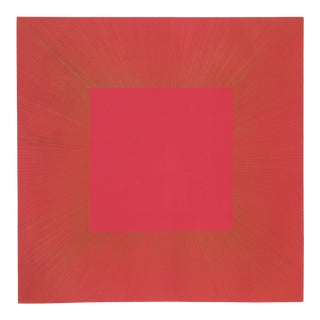 "Richard Anuszkiewicz, ""Summer Suite"" (Red & Gold I), Op Art Etching For Sale"