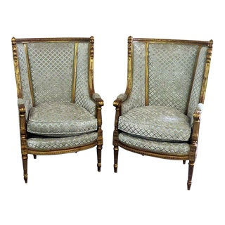 Regency Style High Back Chairs - A Pair For Sale