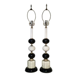 1940s Hollywood Regency Lamps - a Pair For Sale