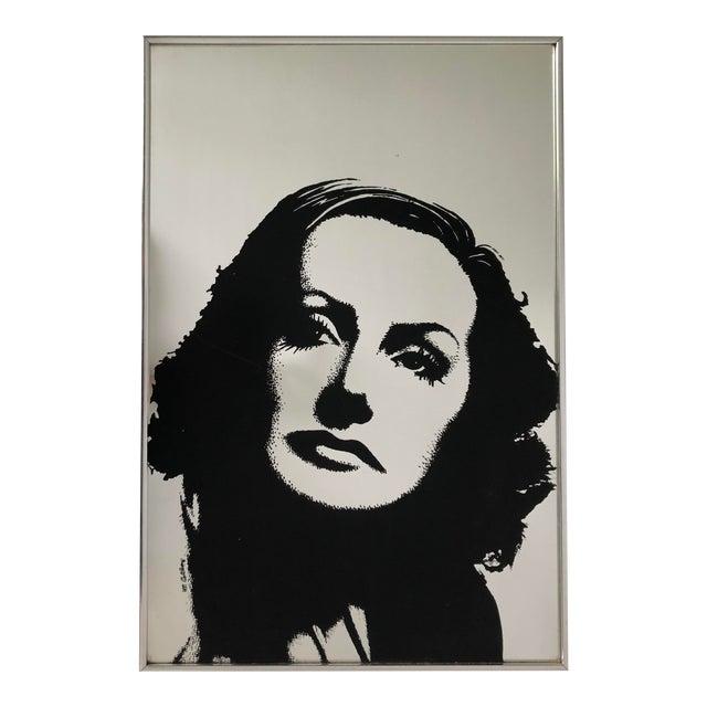 Vintage Greta Garbo Portrait on Mirror Signed M. Collier For Sale