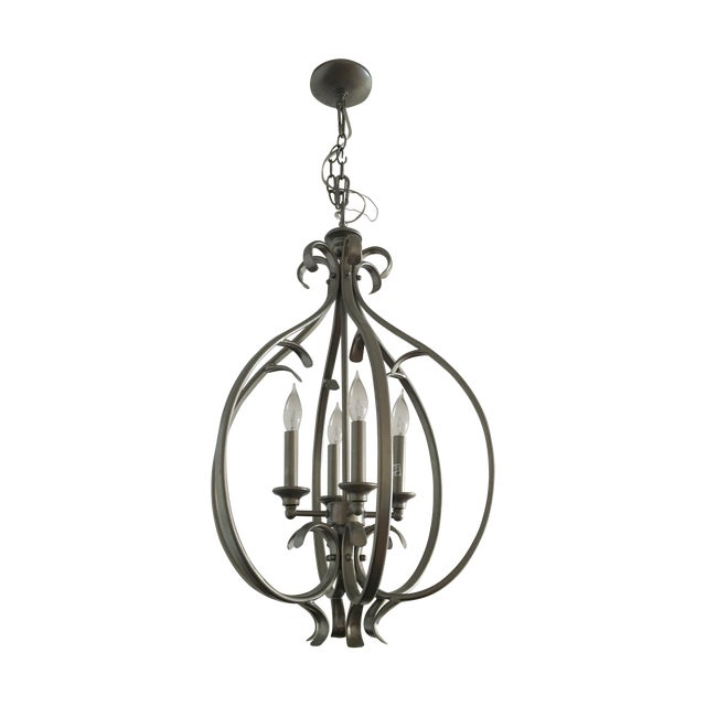 Transitional Silver-Tone Chandelier - Image 1 of 5