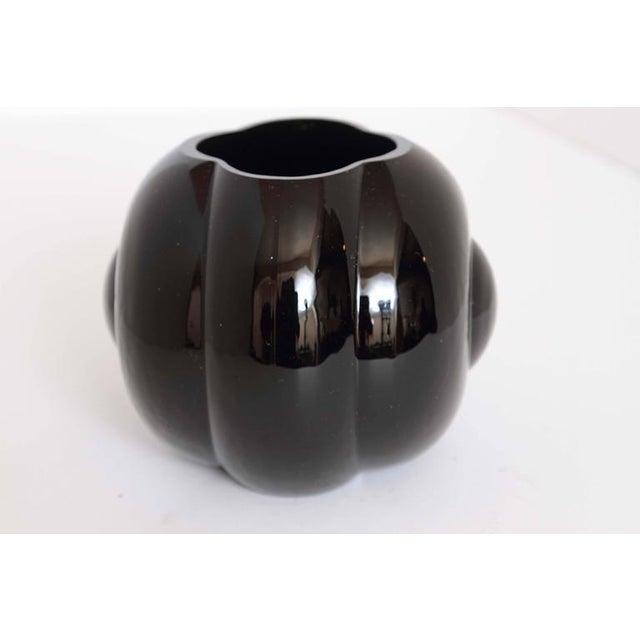 Fostoria Glass Company George Sakier Fostoria Modernist Fishbowl Vase For Sale - Image 4 of 11