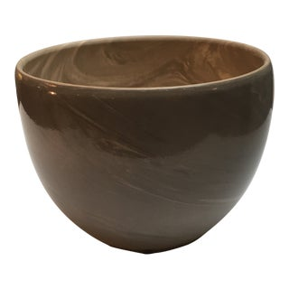 Faux Marble Porcelain Bowl For Sale