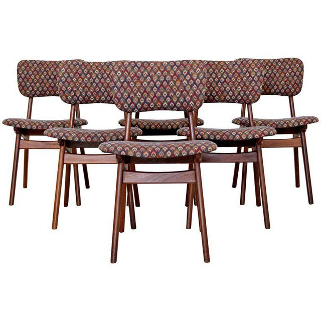 Mid-Century Modern Arne Hovmand Olsen Danish Teak Dining Chairs - Set of 6 For Sale - Image 10 of 10