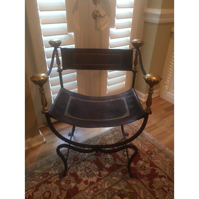 Antique Italian Savonarola Chair - Image 2 of 8