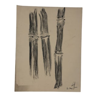 Bamboo Study Ink Wash by James Bone 2000 For Sale