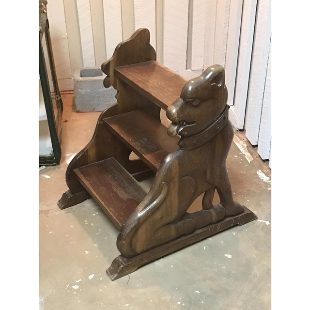19th Century English Traditional Walnut Library Steps For Sale - Image 4 of 5