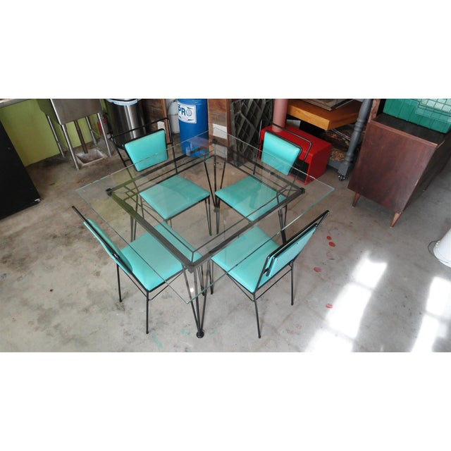 Atomic Age Mid-Century Iron Dining Set - Image 5 of 11