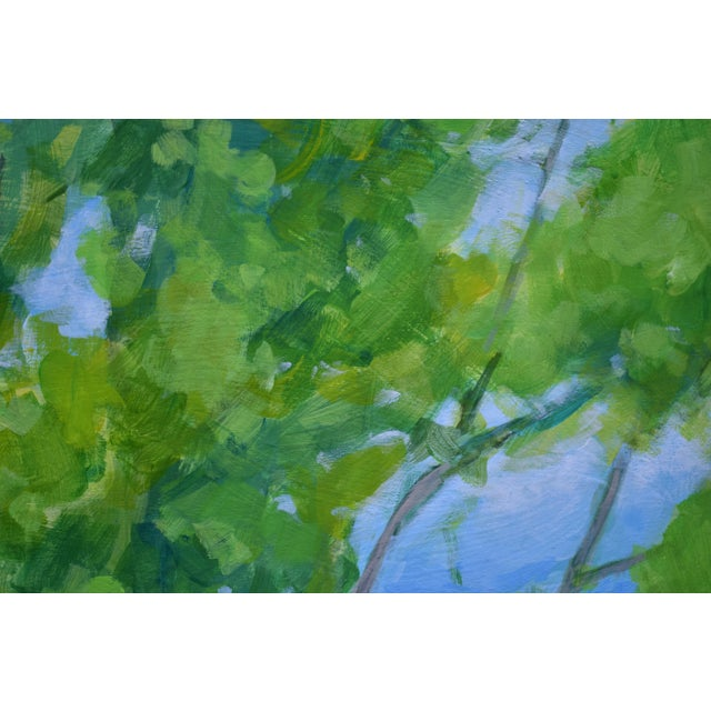 """Blue 2010s Contemporary Painting, """"Treetops Painting"""" by Stephen Remick For Sale - Image 8 of 12"""