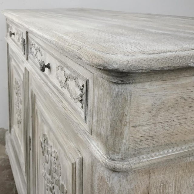 19th Century Country French Louis XVI Whitewashed Buffet For Sale - Image 11 of 13