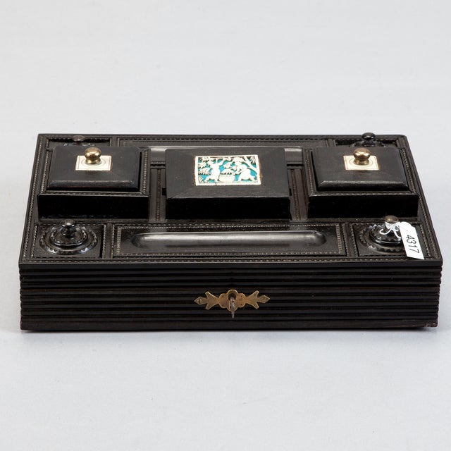 Anglo Raj Ebony & Ivory Desk Set - Image 2 of 7