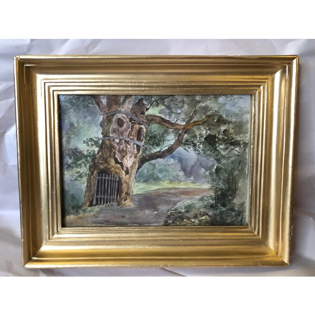 1891 Impressionist English Landscape Watercolor Painting, Framed For Sale - Image 10 of 10