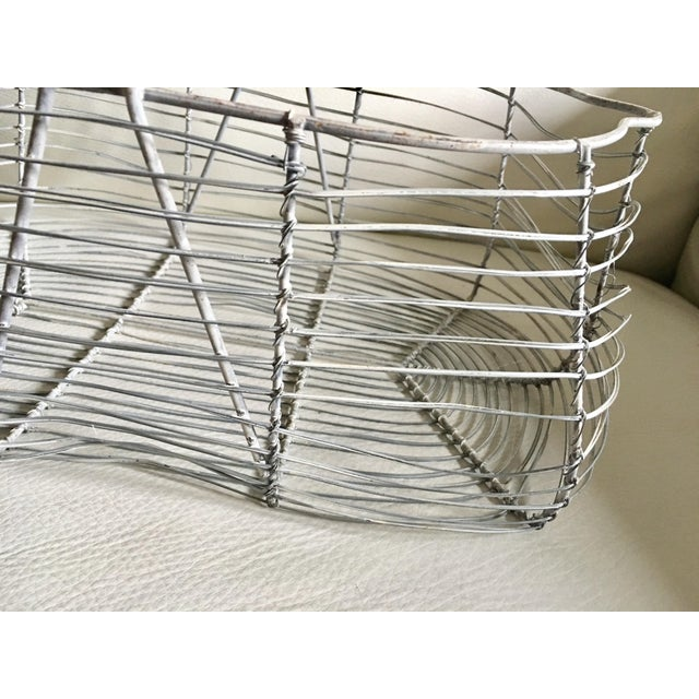 Antique French Wire Basket For Sale In Miami - Image 6 of 7