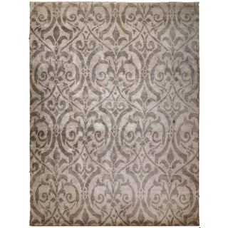 "Contemporary Bamboo Silk Damask Rug - 8′9″ × 11′9"" For Sale"