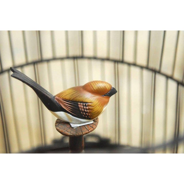 1960s Antique Chinese Domed Bamboo Bird Cage For Sale - Image 5 of 11